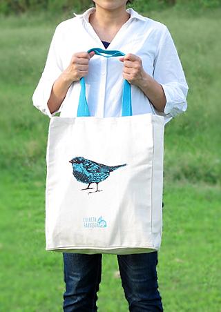 青い鳥 トートバッグ